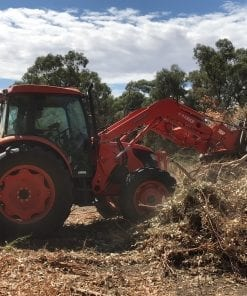 tractor with rake